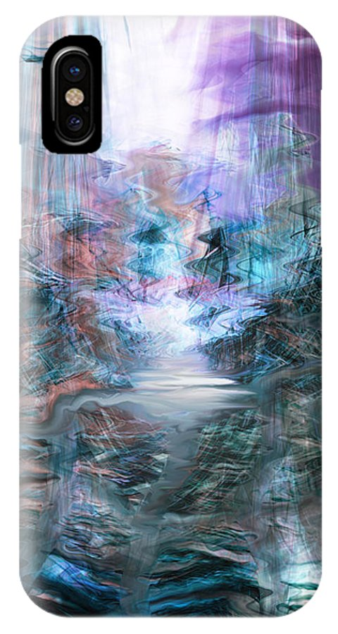 The Road IPhone X Case featuring the digital art The Road by Linda Sannuti