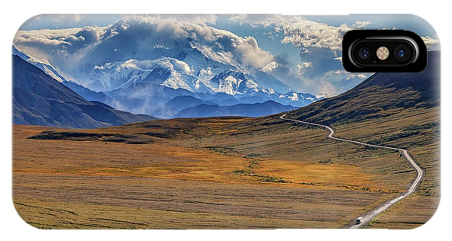 Alaska IPhone X Case featuring the photograph The Road To Denali by Rick Berk