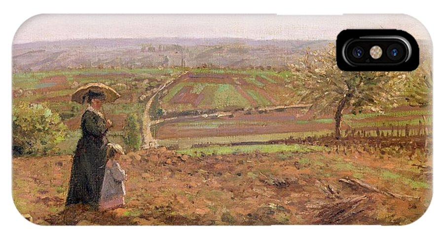 The IPhone X Case featuring the painting The Road To Rouen by Camille Pissarro