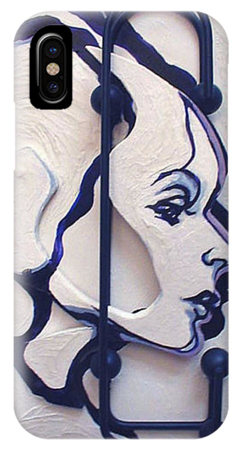 Construction Art IPhone X Case featuring the mixed media The School Teacher by Lloyd DeBerry