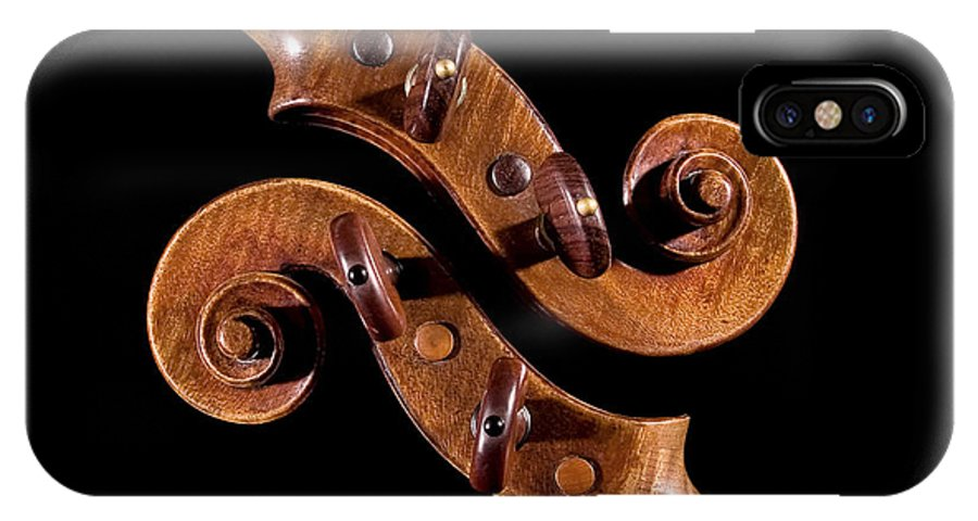 Strad IPhone X Case featuring the photograph The Scroll And It's Clone by Endre Balogh