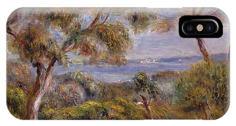 The Sea At Cagnes IPhone X Case featuring the painting The Sea At Cagnes by Pierre Auguste Renoir