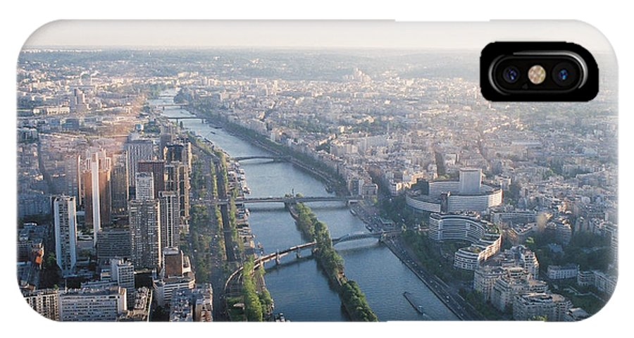 City IPhone X Case featuring the photograph The Seine River In Paris by Nadine Rippelmeyer