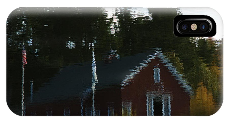 Reflection IPhone X Case featuring the photograph The Shed by Barry Doherty