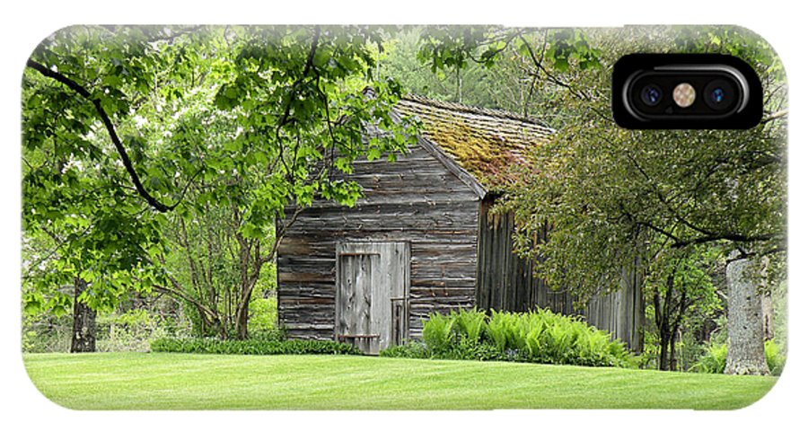 Shed IPhone X Case featuring the photograph The Shed In The Trees by Rosalie Scanlon