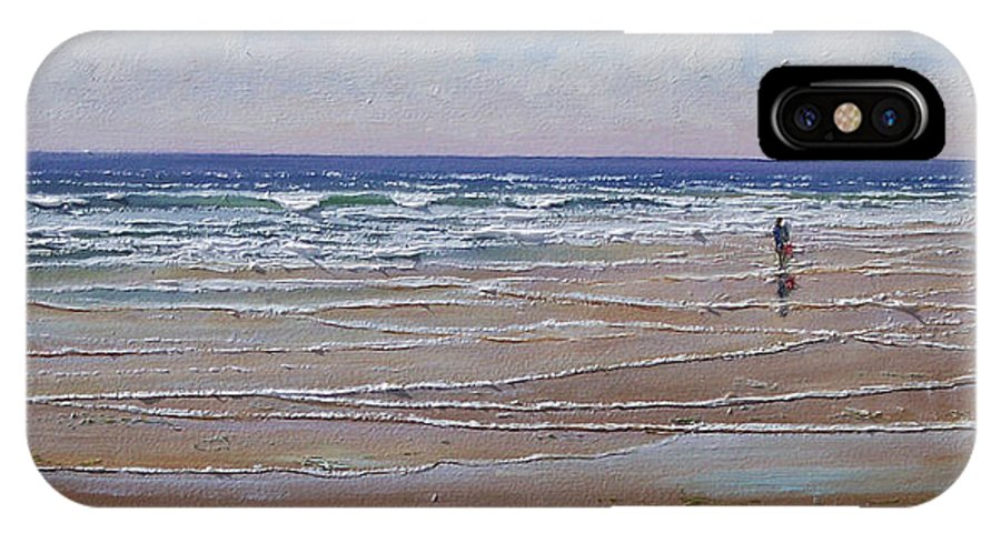 Seascape IPhone Case featuring the painting The Shell Collector by Frank Wilson