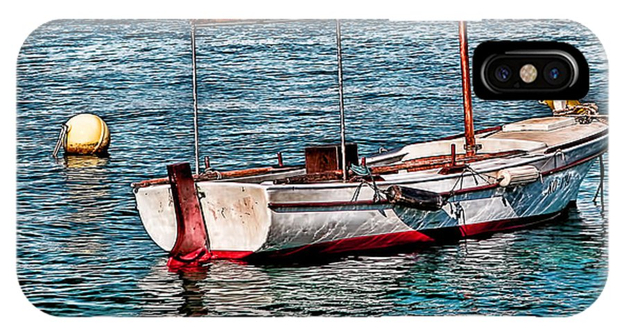 Boat Image IPhone X Case featuring the photograph The Simple Life Mykonos by Tom Prendergast