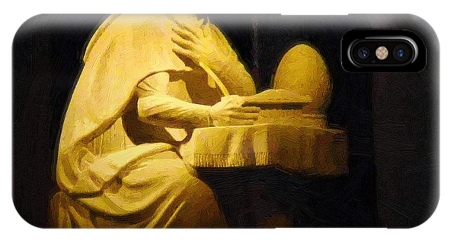 Augustine IPhone X Case featuring the painting The Sinner Who Became A Saint by RC DeWinter