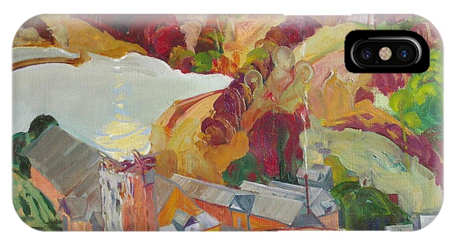 Oil IPhone Case featuring the painting The Slovechansk Edge by Sergey Ignatenko