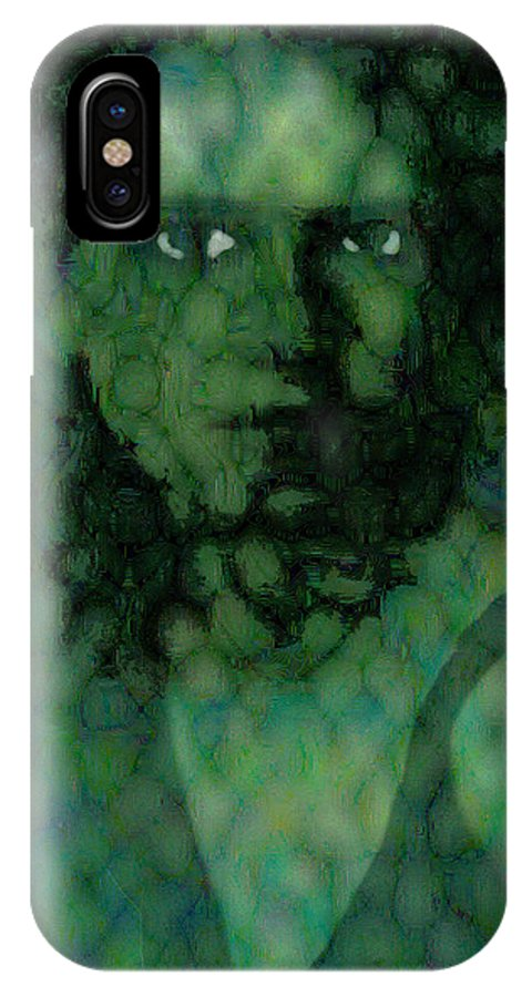 Bizarre IPhone X / XS Case featuring the digital art The Snake Lady by Seth Weaver