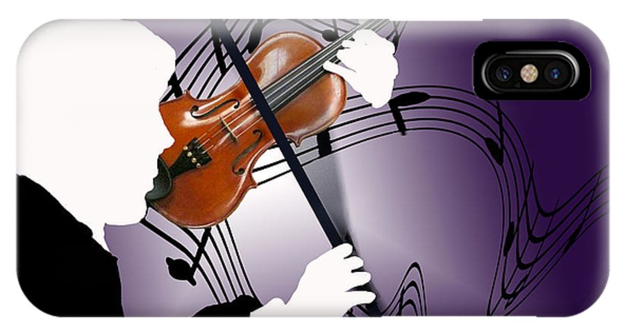 Violin IPhone X Case featuring the digital art The Soloist by Steve Karol