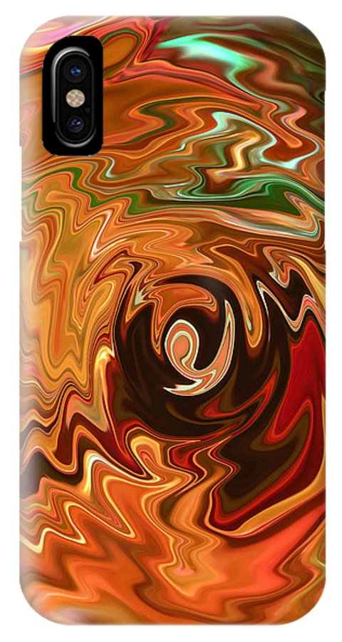 Spirit Of Christmas IPhone X Case featuring the photograph The Spirit Of Christmas - Abstract Art by Carol Groenen