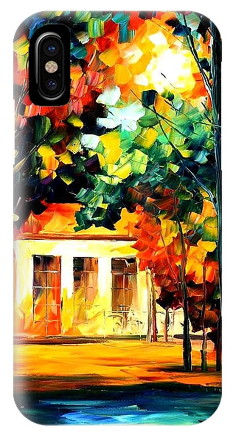 Afremov IPhone X Case featuring the painting The Spirit Of The Night by Leonid Afremov