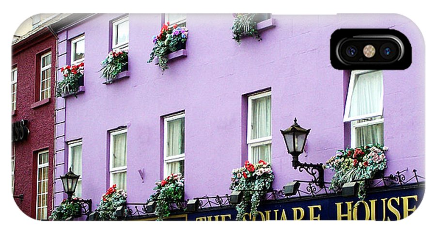 Irish IPhone X Case featuring the photograph The Square House Athlone Ireland by Teresa Mucha