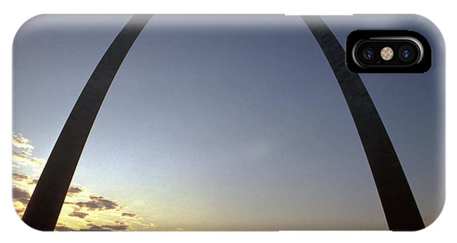 Landmark IPhone Case featuring the photograph The St. Louis Arch by Carl Purcell