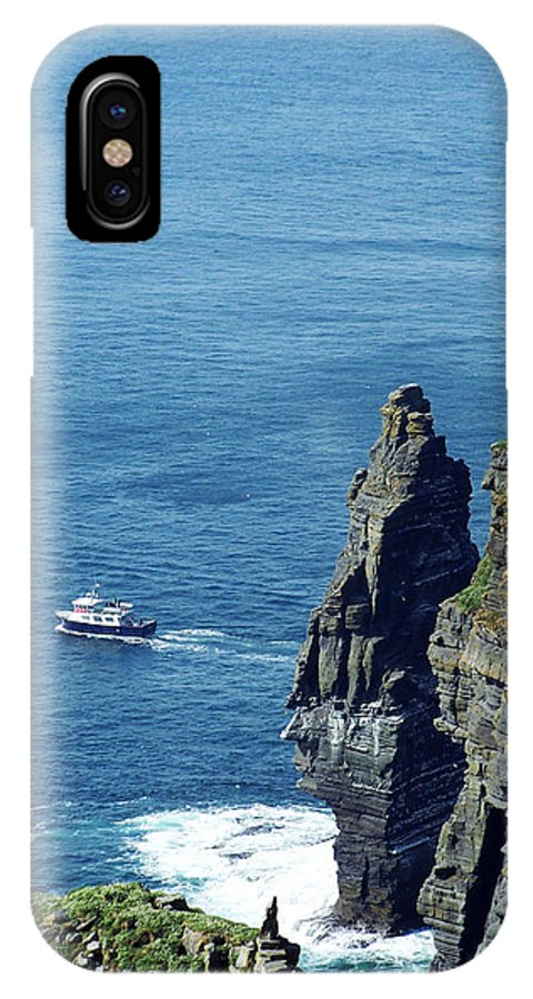 Irish IPhone X Case featuring the photograph The Stack And The Jack B Cliffs Of Moher Ireland by Teresa Mucha
