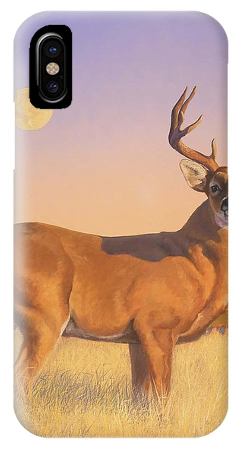 Deer IPhone X Case featuring the painting The Stag by Howard Dubois