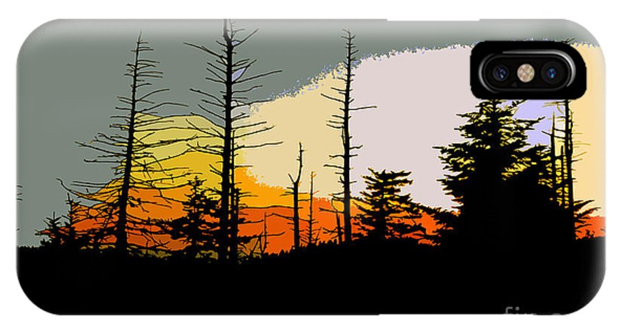 Forest IPhone X Case featuring the painting The Stained Glass Forest by David Lee Thompson