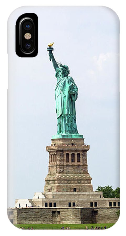 Tourism IPhone X / XS Case featuring the photograph The Statue Of Liberty In New York City by Antonio Gravante