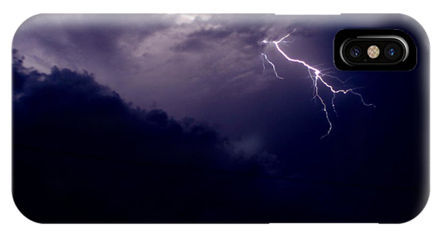 Sky IPhone X Case featuring the photograph The Storm 1.3 by Joseph A Langley