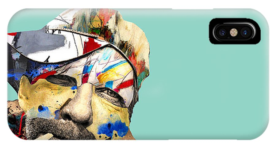 Pop Art IPhone X Case featuring the photograph The Street Artist by Dominic Piperata