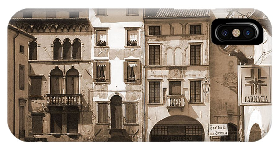 Landscape IPhone Case featuring the photograph The Streets Of Vittorio Veneto by Donna Corless