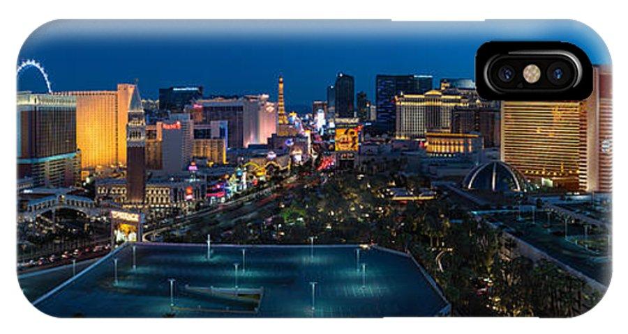 The IPhone X Case featuring the photograph The Strip Las Vegas by Steve Gadomski