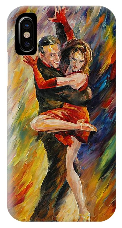 Dance IPhone Case featuring the painting The Sublime Tango by Leonid Afremov