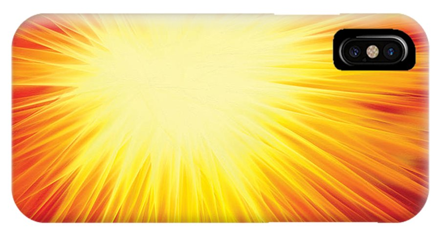 Solar System IPhone X Case featuring the digital art The Sun by Rabi Khan