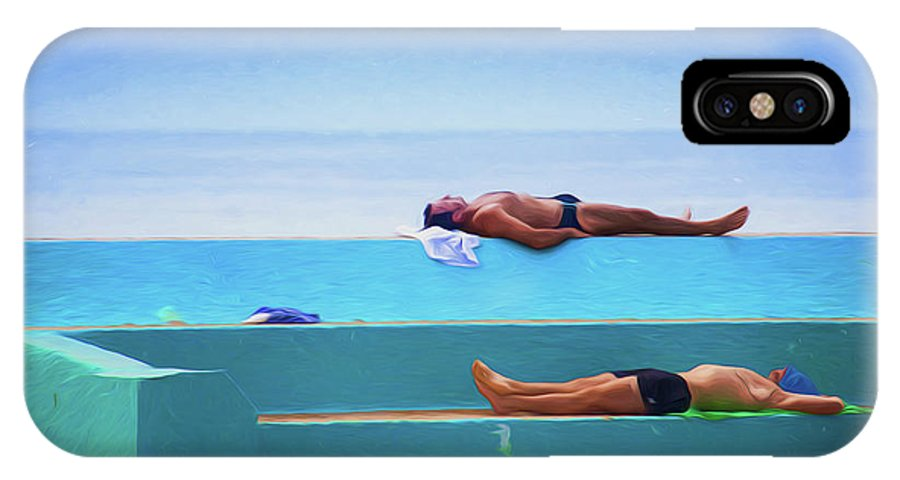 Sunbather IPhone X Case featuring the photograph The Sunbathers by Sheila Smart Fine Art Photography