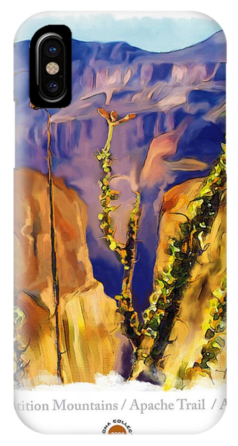Impressionism IPhone X Case featuring the painting The Superstition Mtns. Az by Bob Salo