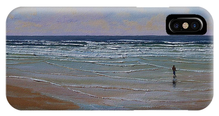 Seascape IPhone Case featuring the painting The Surf Walker by Frank Wilson