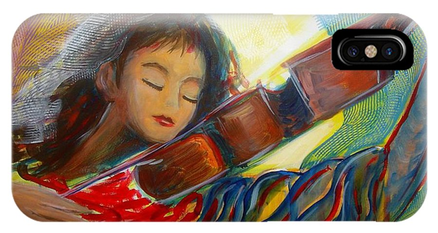 Violin IPhone Case featuring the painting The Sweetest Sounds by Regina Walsh