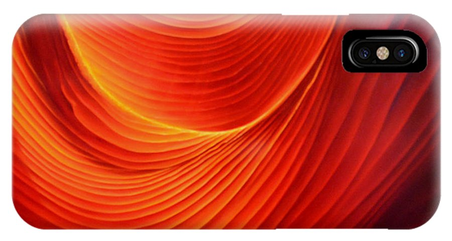 Antelope Canyon IPhone X Case featuring the painting The Swirl by Anni Adkins