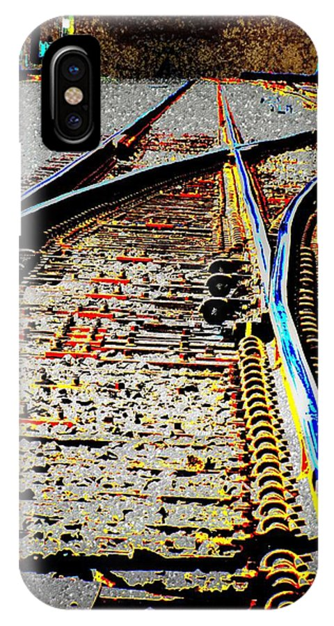 Train IPhone X Case featuring the digital art The Switch by Tim Allen