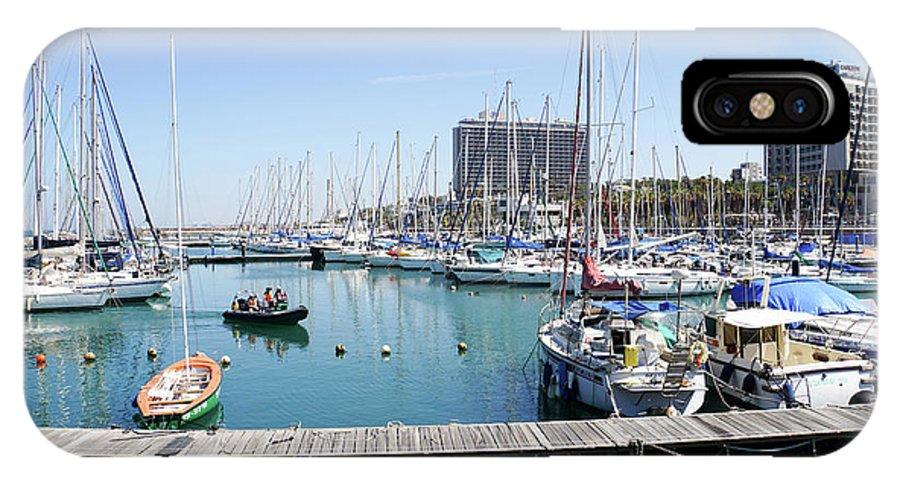 Leisure IPhone X Case featuring the photograph The Tel Aviv Marina by Vladi Alon
