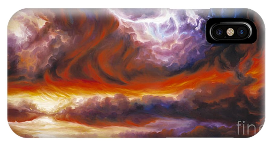 Tempest IPhone X Case featuring the painting The Tempest by James Christopher Hill