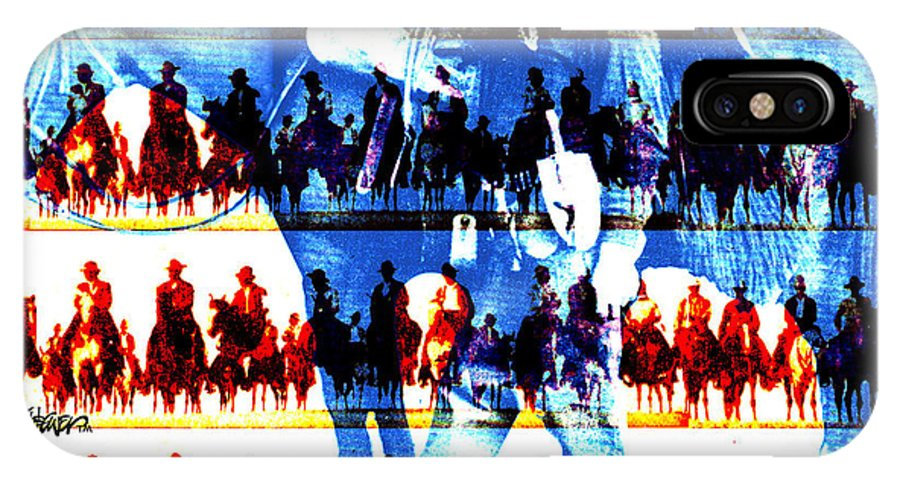 Cowboys IPhone X Case featuring the digital art The Tenderfoot by Seth Weaver
