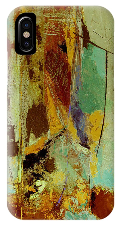 Abstract IPhone X Case featuring the painting The Testimony by Ruth Palmer