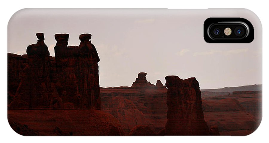 Landscape IPhone Case featuring the photograph The Three Gossips Arches National Park Utah by Christine Till