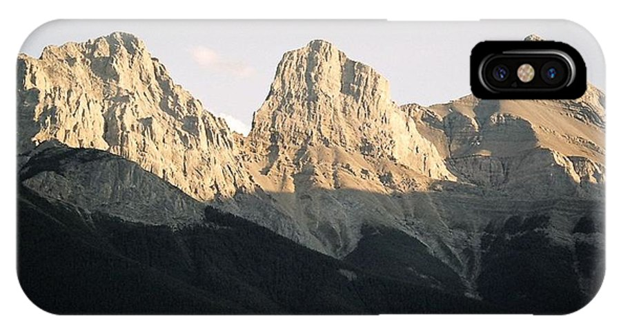 Rocky Mountains IPhone X Case featuring the photograph The Three Sisters Of The Rockies by Tiffany Vest