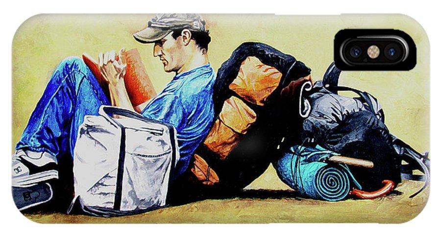 Travel IPhone Case featuring the painting The Traveler 2 - El Viajero 2 by Rezzan Erguvan-Onal