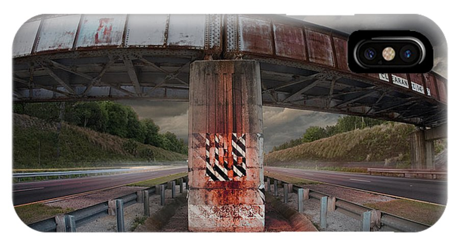 Grunge IPhone X Case featuring the photograph The Trestle With The Pestle by Steven Hlavac