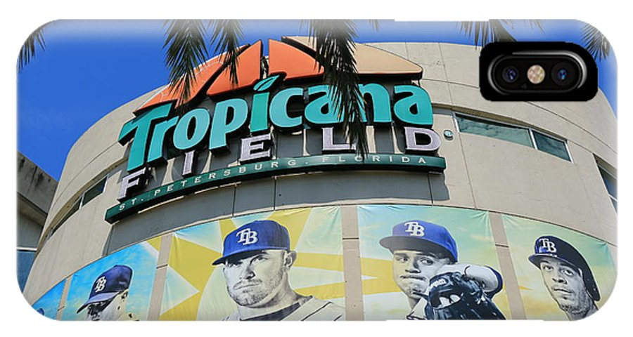 Tropicana Field IPhone X / XS Case featuring the photograph The Trop by Debbie Olavarria