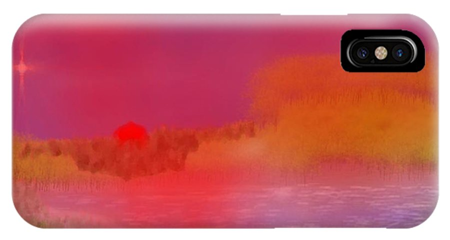 Sunset IPhone X Case featuring the digital art The True Moment Of Sunset by Dr Loifer Vladimir