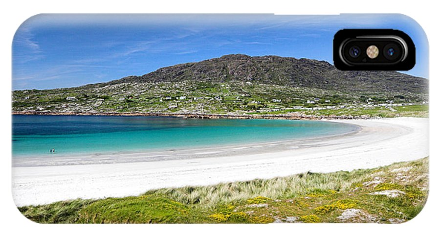 IPhone X Case featuring the photograph The Turquoise Water Of Dogs Bay Roundstone Ireland by Pierre Leclerc Photography