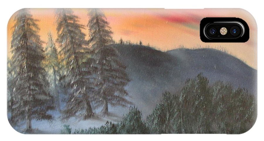 Forest IPhone X Case featuring the painting The Twisted Forest by Jack Thomas