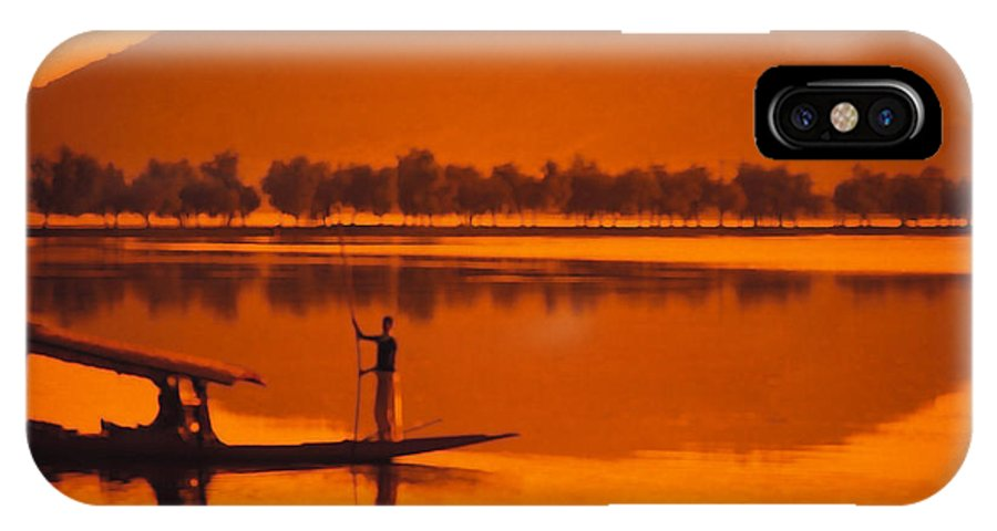 Sunset IPhone X Case featuring the photograph The Vale Of Kasmir by Carl Purcell