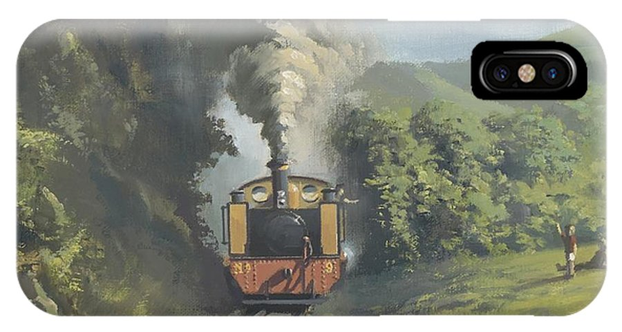 Steam IPhone X Case featuring the painting The Vale Of Rheidol Railway by Richard Picton