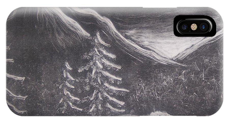 Landscape IPhone Case featuring the painting The Valley by Emily Young